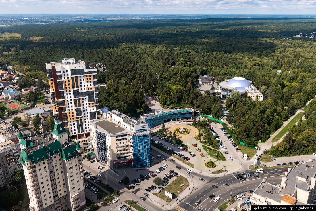 зоопарк Фотографии Новосибирск с высоты