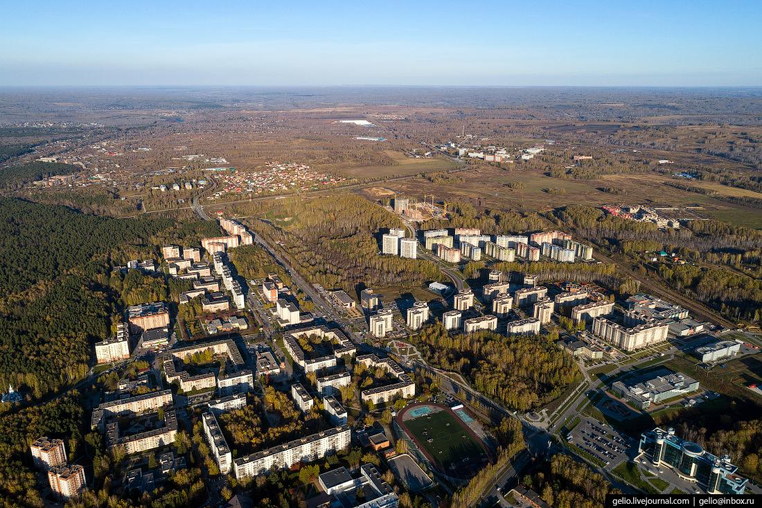 Наукоград Кольцово Фотографии Новосибирск с высоты