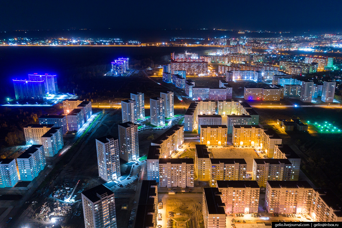 Микрорайон просторный Фотографии Новосибирск с высоты
