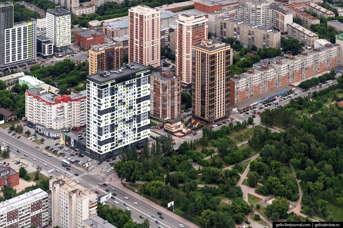 жилой комплекс Клевер La Grande Фотографии Новосибирск с высоты