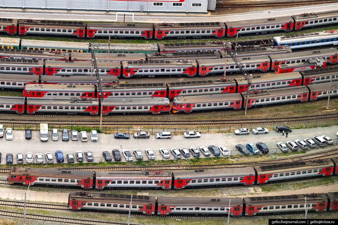 Пассажирское вагонное депо Фотографии Новосибирск с высоты