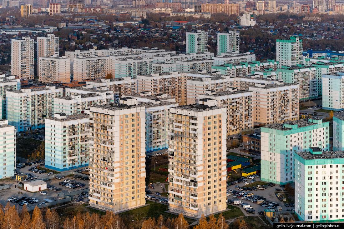 Плющихинский микрорайон Фотографии Новосибирск с высоты
