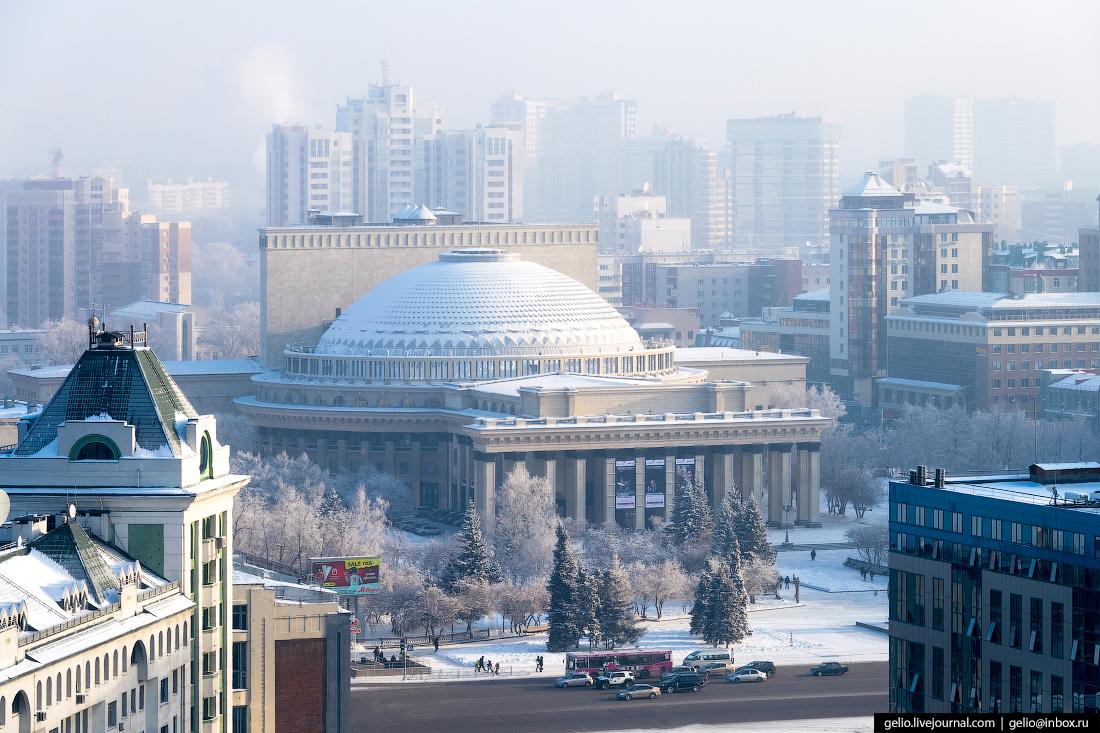 Новосибирский театр оперы и балета Зимний Новосибирск с высоты