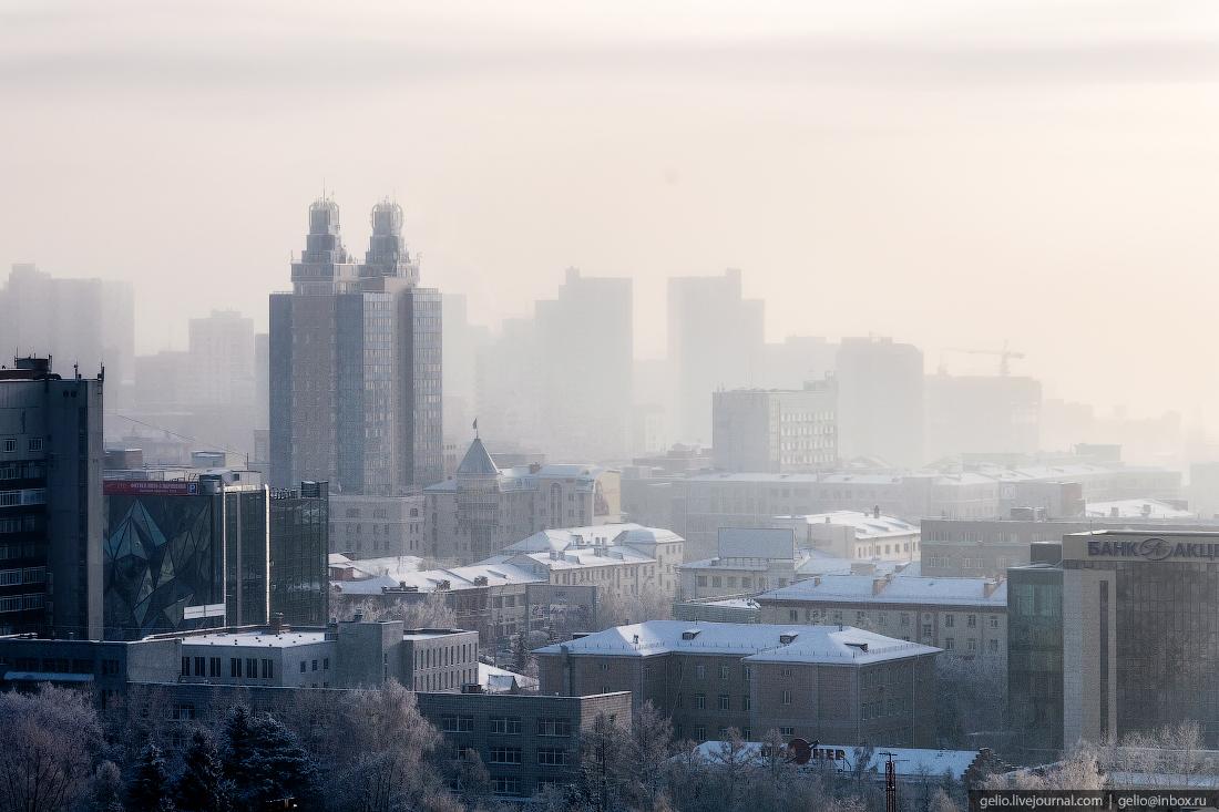 Бэтмен Зимний Новосибирск с высоты