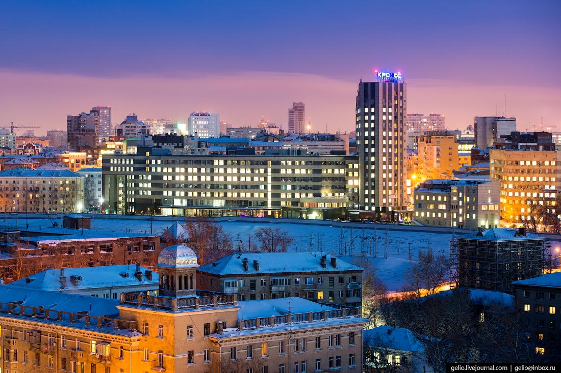 кронос Зимний Новосибирск с высоты