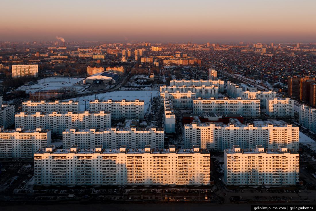 Зимний Новосибирск с высоты Чистая Слобода