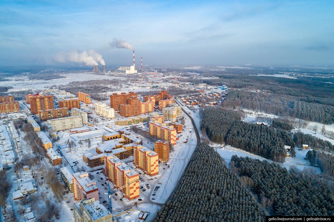 Зимний Новосибирск с высоты Ключ-Камышенское плато