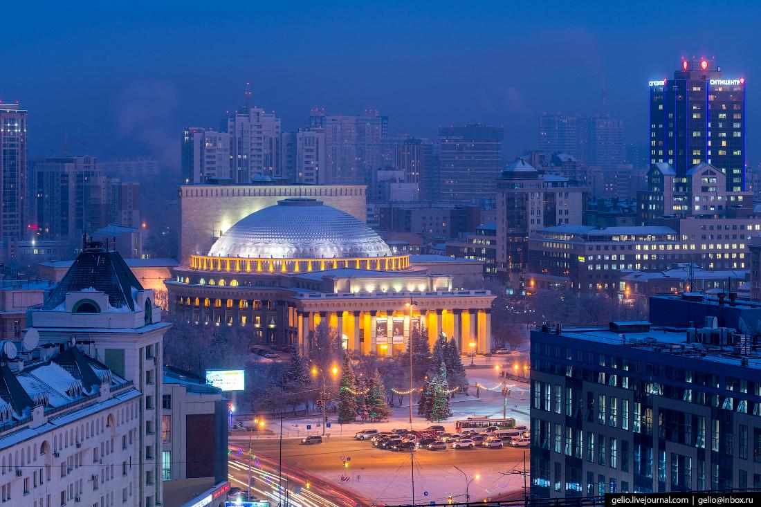 Зимний Новосибирск Оперный театр
