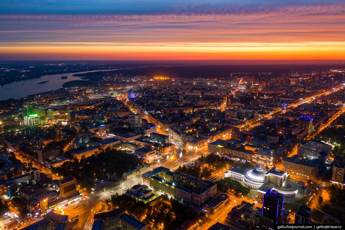 Новосибирск с высоты Красный проспект