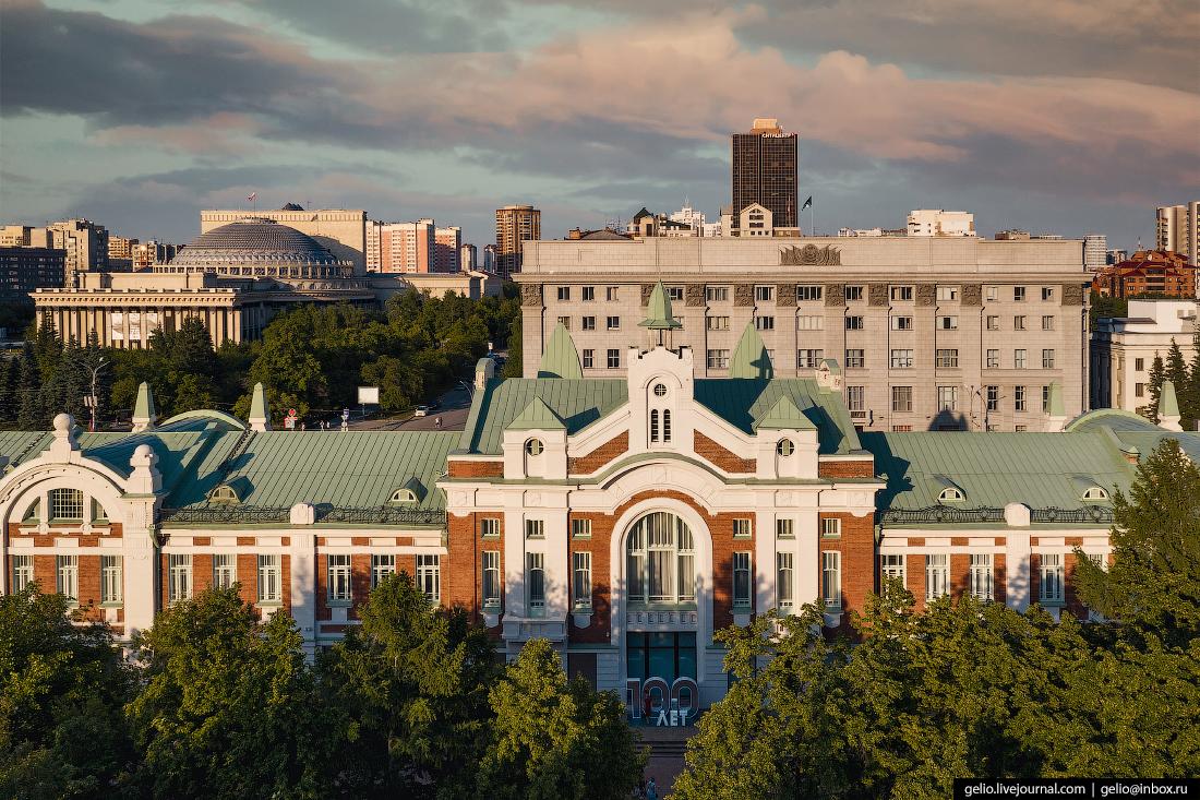 Новосибирск с высоты Краеведческий музей