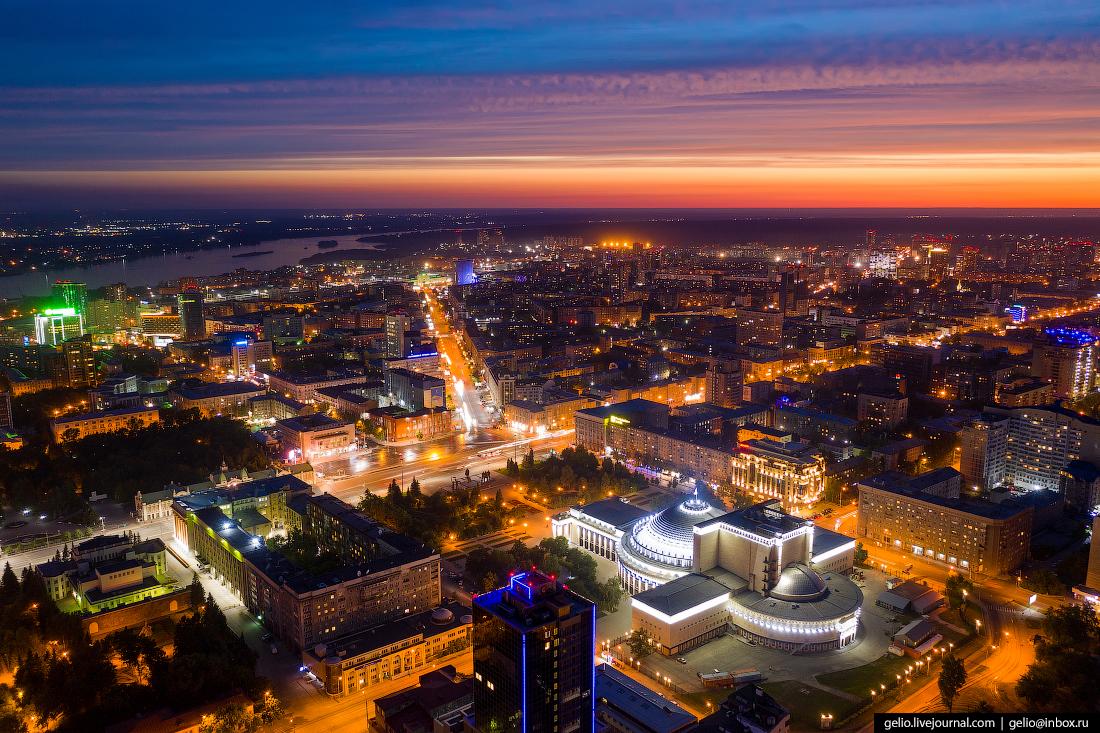 Новосибирск с высоты Площадь Ленина