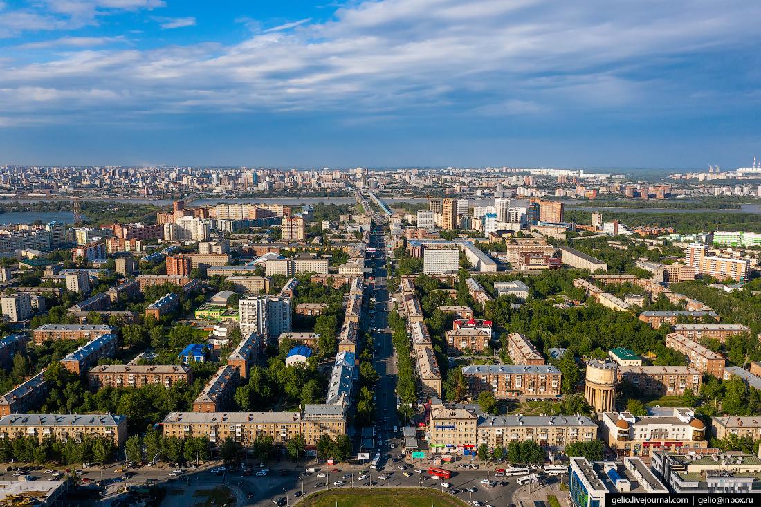 Новосибирск с высоты Проспект Маркса