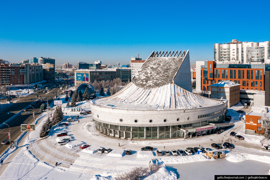 Зимний Новосибирск — заснеженный мегаполис в Сибири