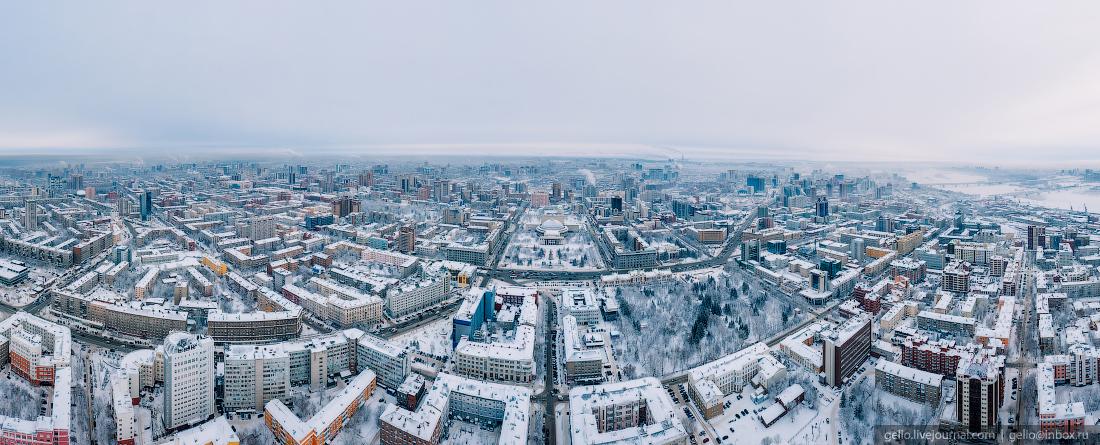 Зимний Новосибирск, панорама