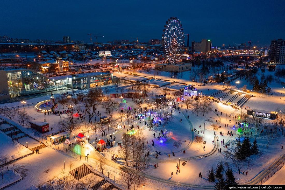 Зимний Новосибирск, ледовый городок