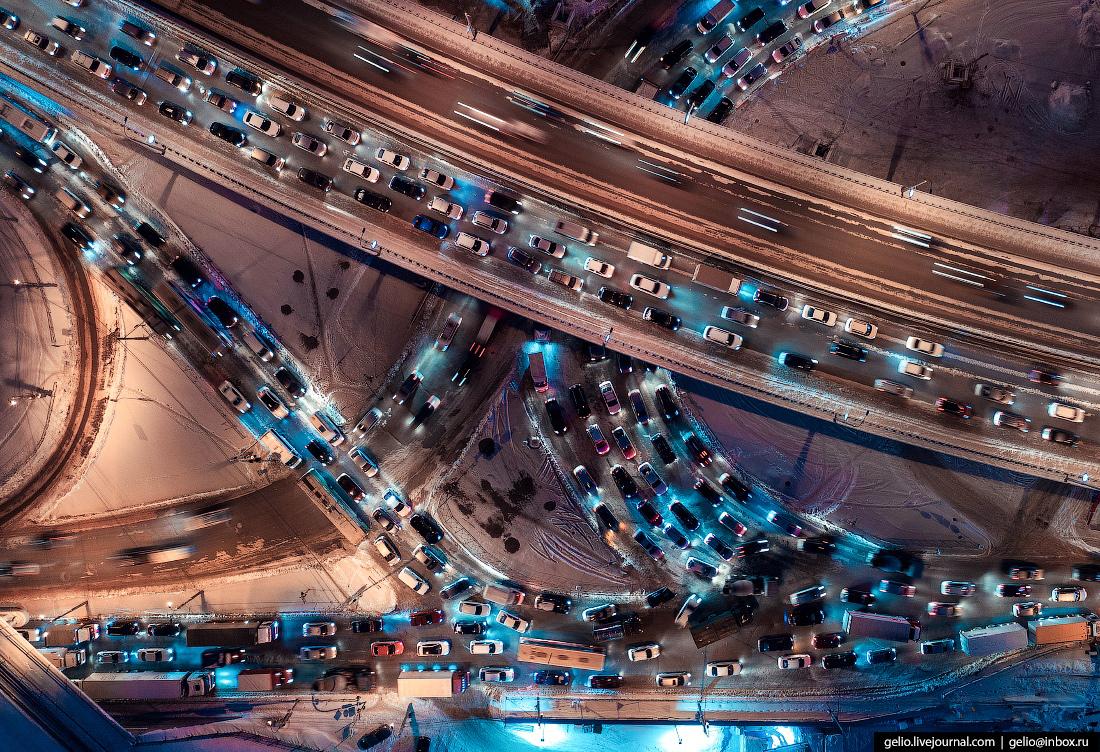 Новосибирск, пробки, развязка, трафик, горб городецкого