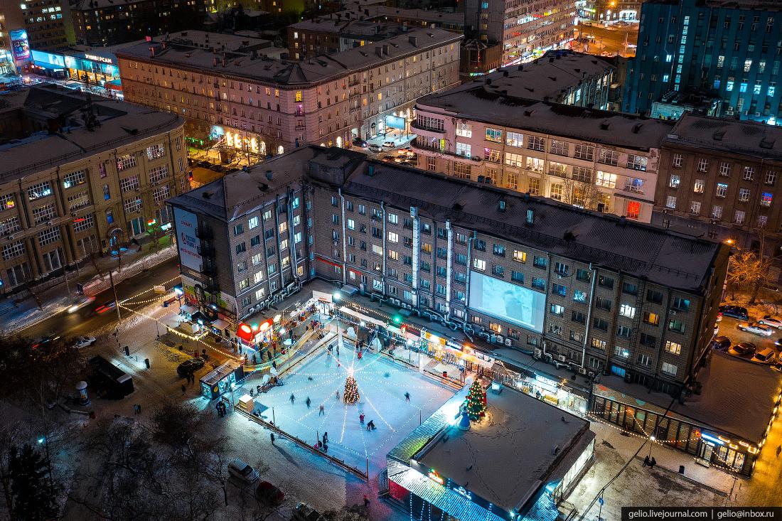 Зимний Новосибирск, дворик