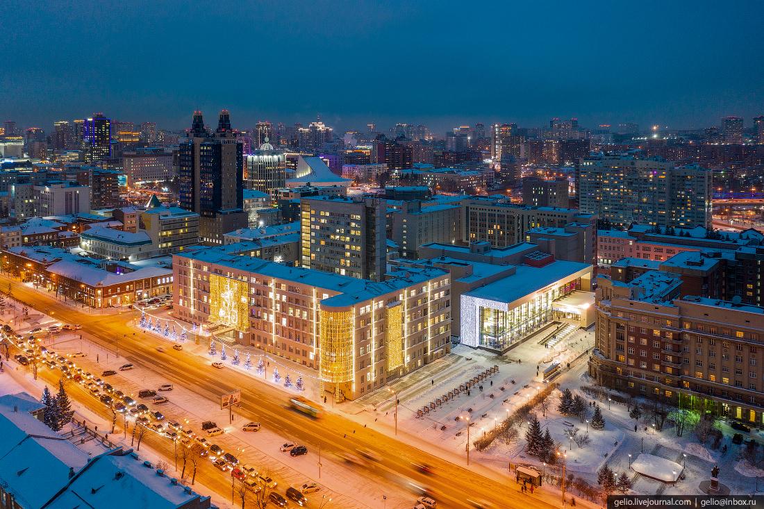 Зимний Новосибирск, новогодний