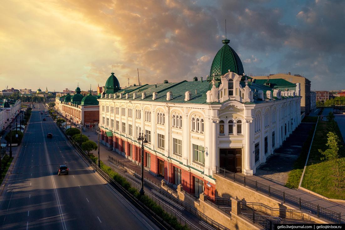 Фото Омска с высоты Омский государственный медицинский университет