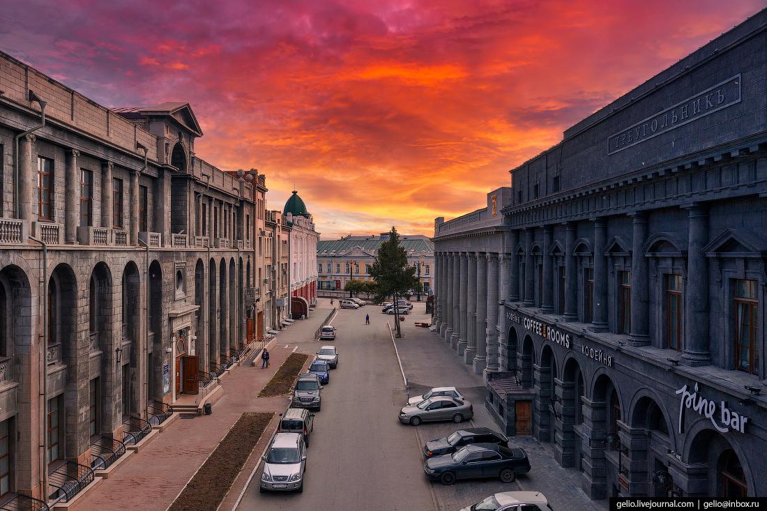 Фото Омска с высоты Карла Либкнехта