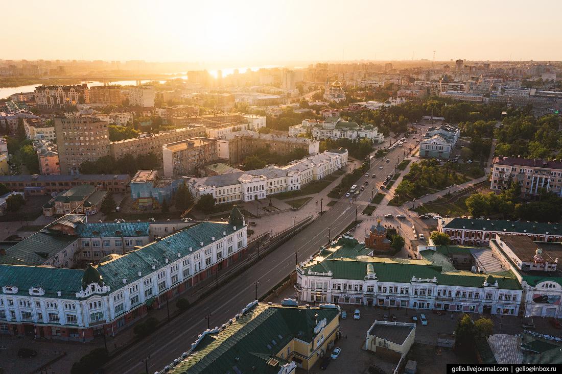 Фото Омска с высоты Улица Ленина