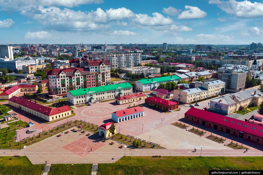 Фото Омска с высоты Омская крепость