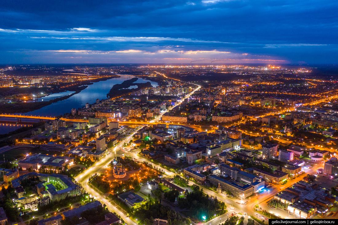 Фото Омска с высоты Красный Путь