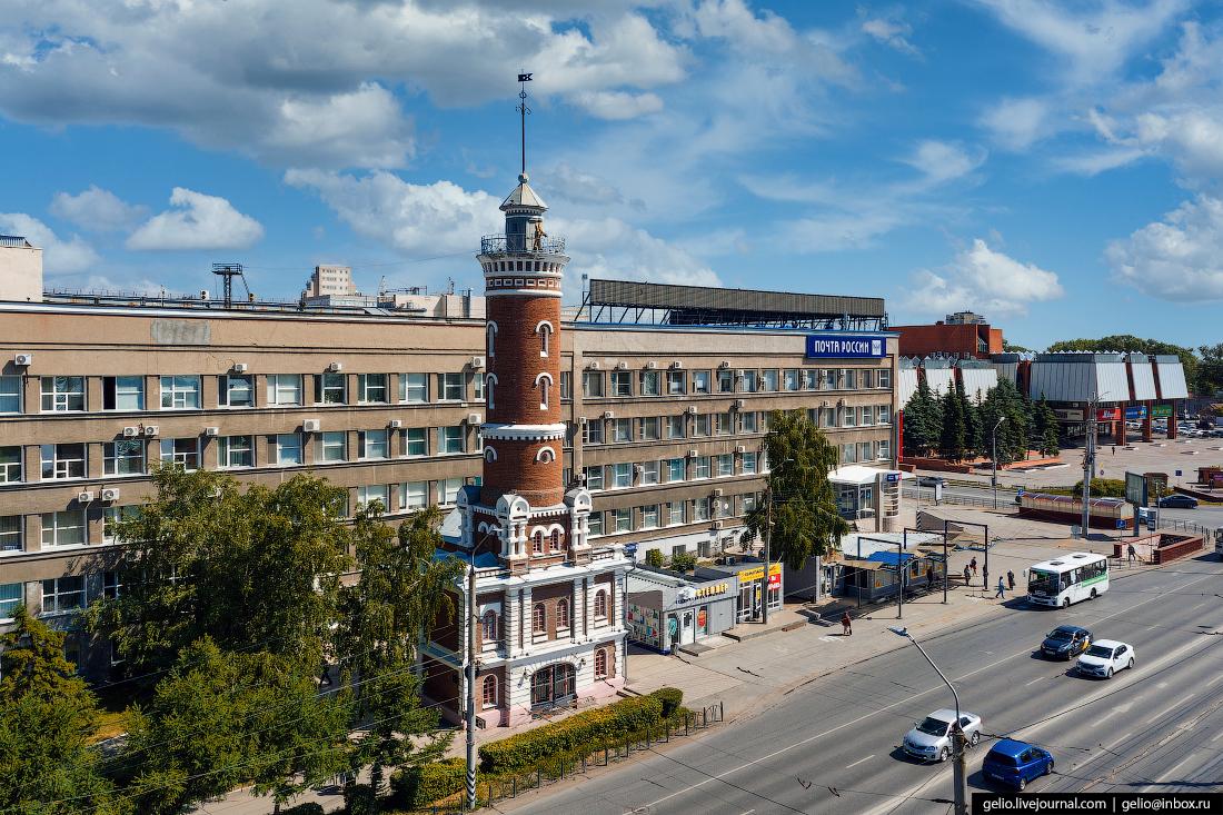 Фото Омска с высоты Пожарная каланча
