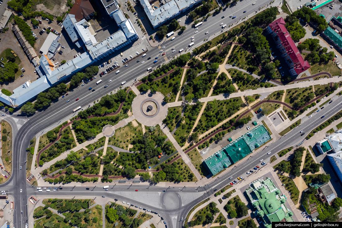 Фото Омска с высоты Сквер Дзержинского