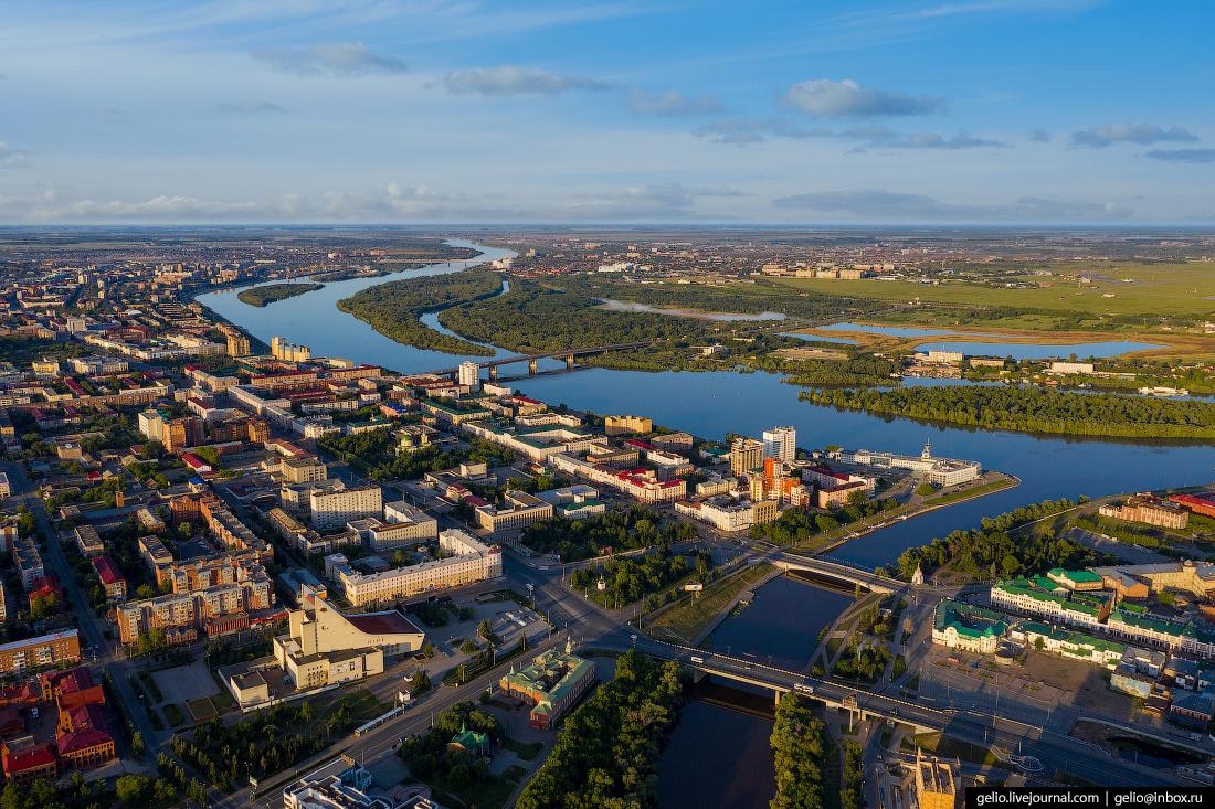 Фото Омска с высоты Иртыш