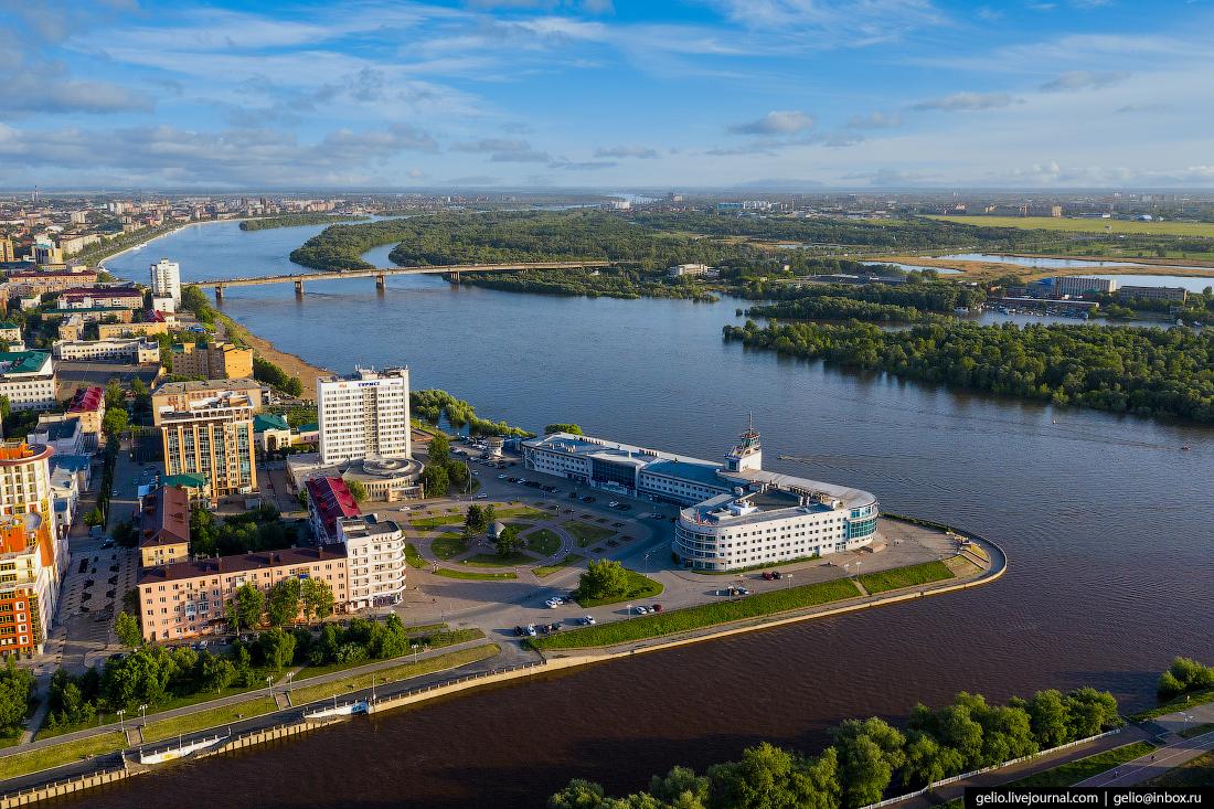 Фото Омска с высоты Площадь Бухгольца