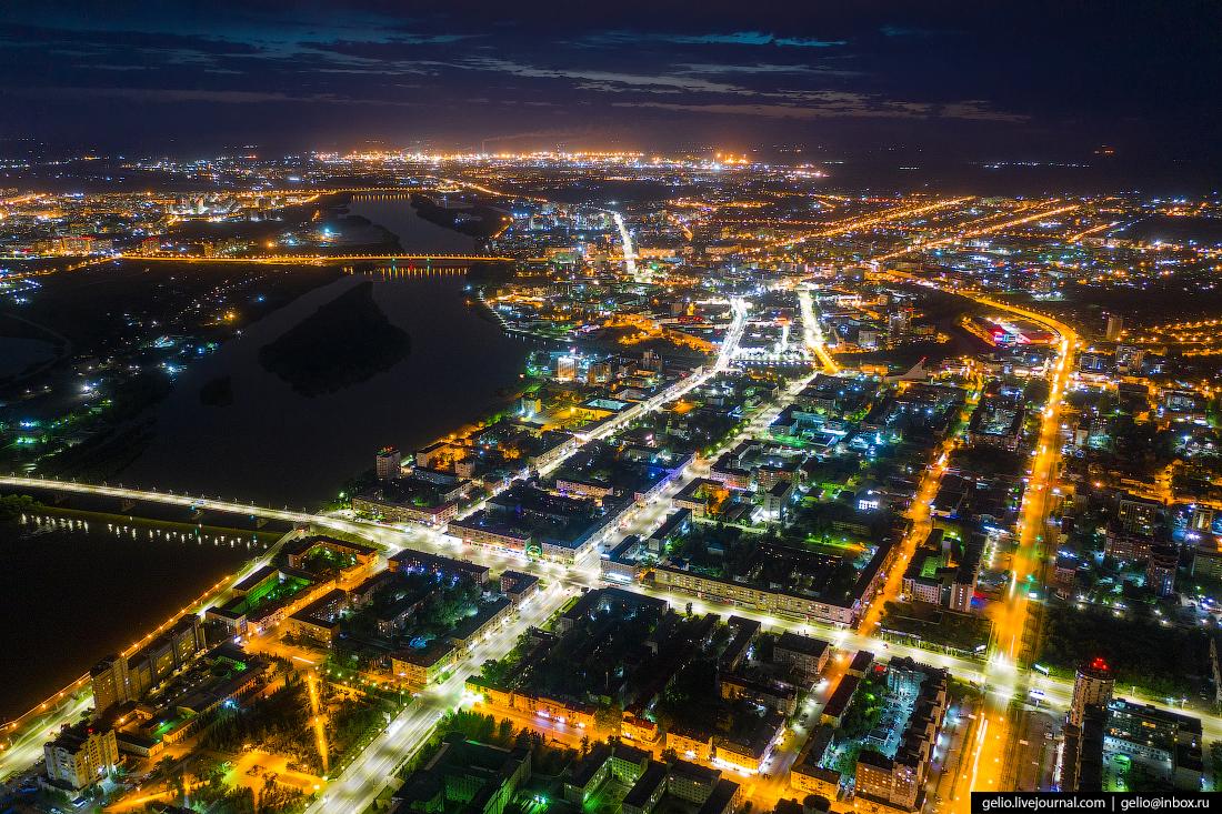 Фото Омска с высоты Проспект Маркса