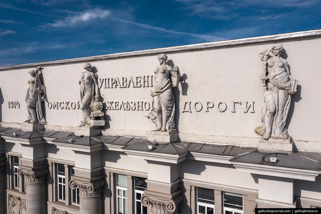 Фото Омска с высоты ОмГУПС