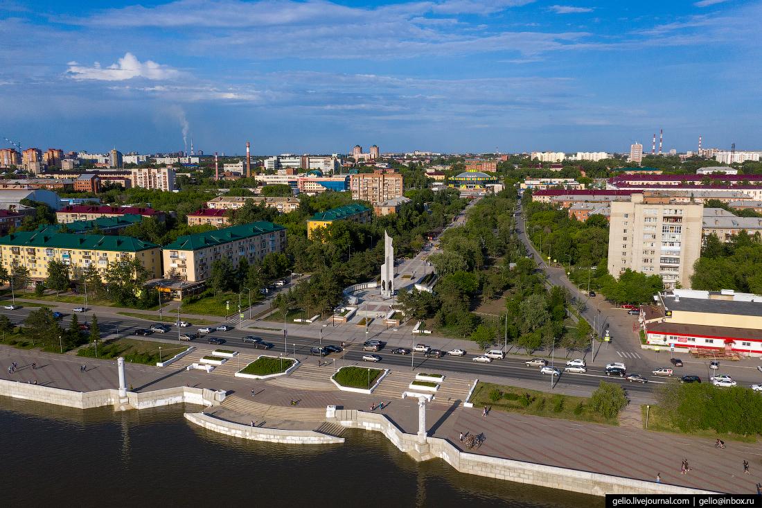 Фото Омска с высоты Бульвар Победы