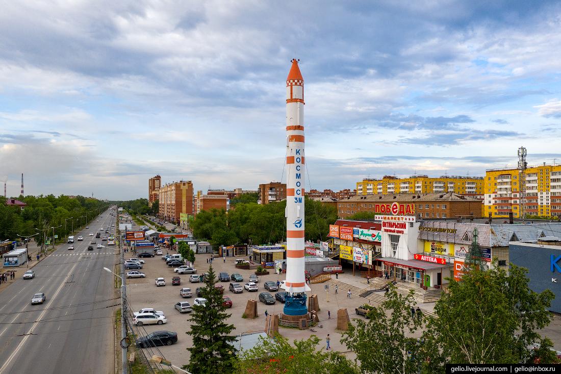 Фото Омска с высоты Космос-3М