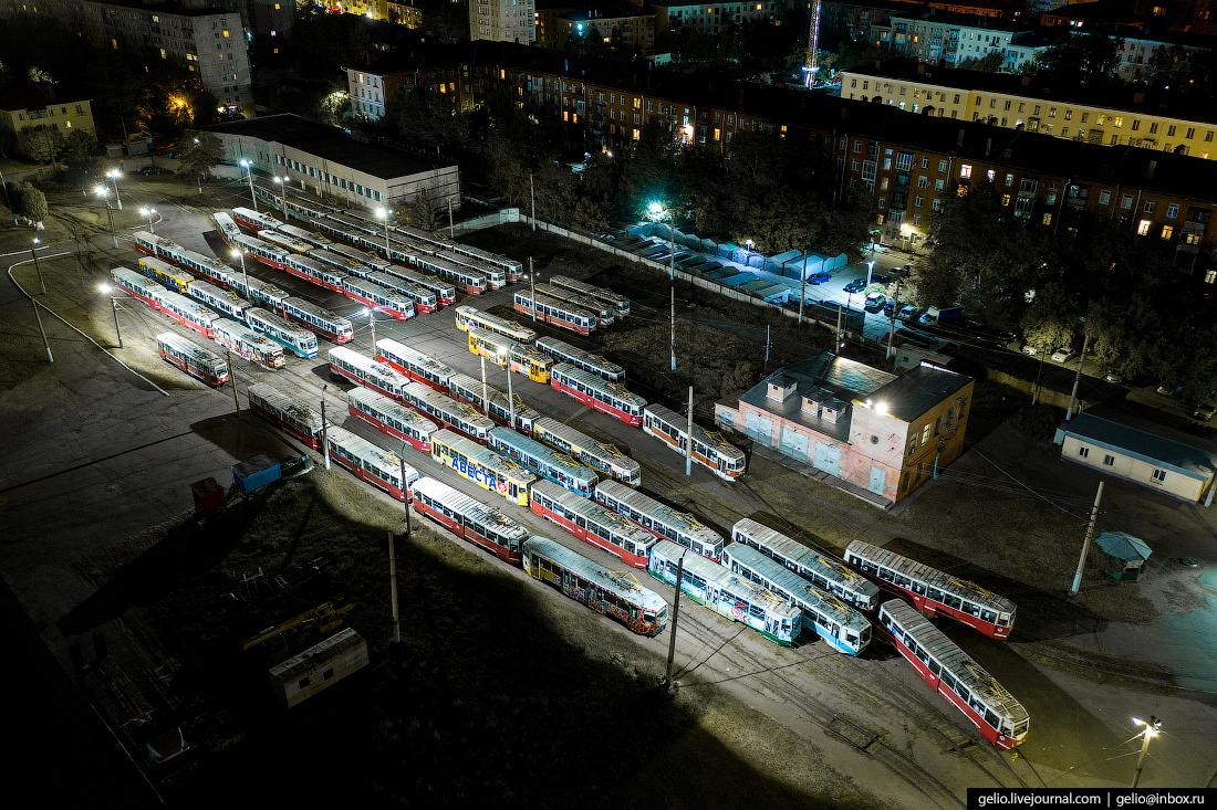 Фото Омска с высоты Трамвайное депо