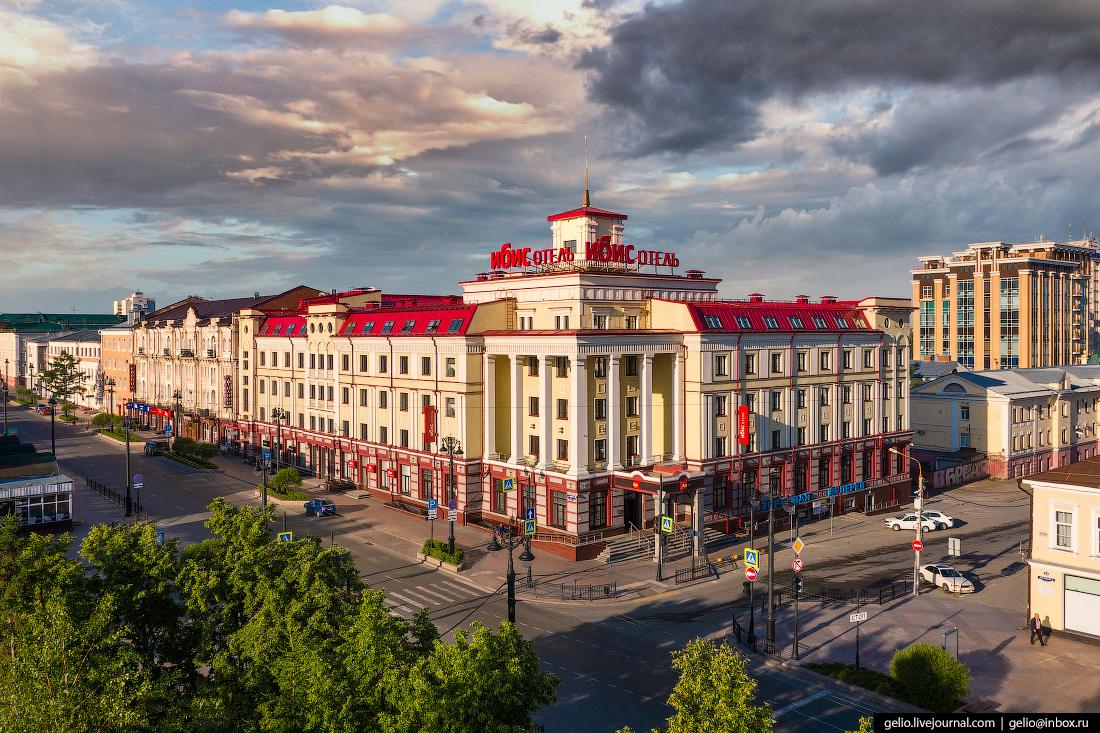 Фото Омска с высоты Гостиница Ибис - Сибирь