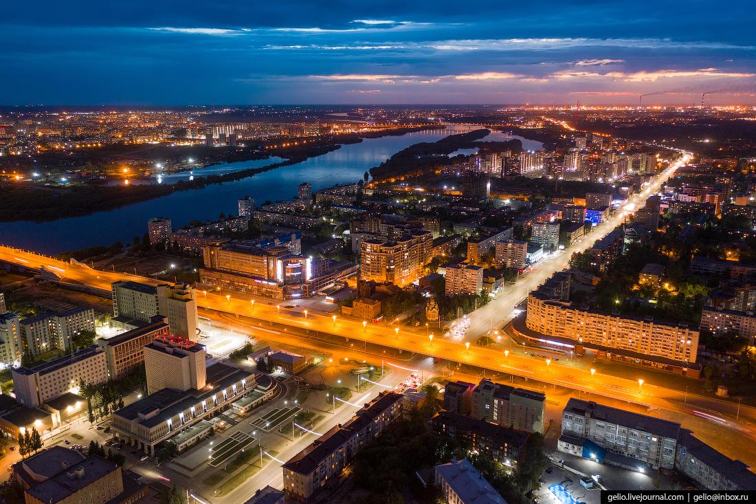 Фото Омска с высоты метро Пушкина