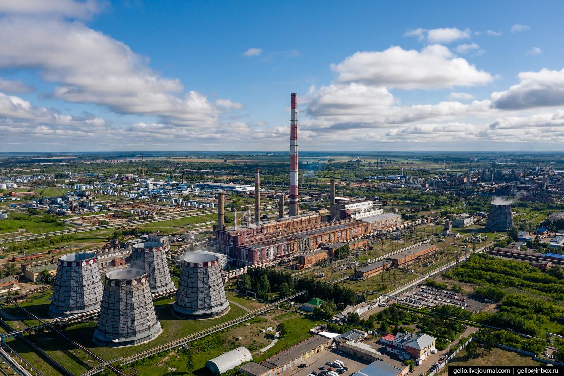 Фото Омска с высоты ТЭЦ-3