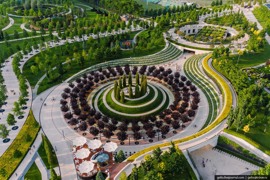 парк галицкого, парк краснодар, с высоты