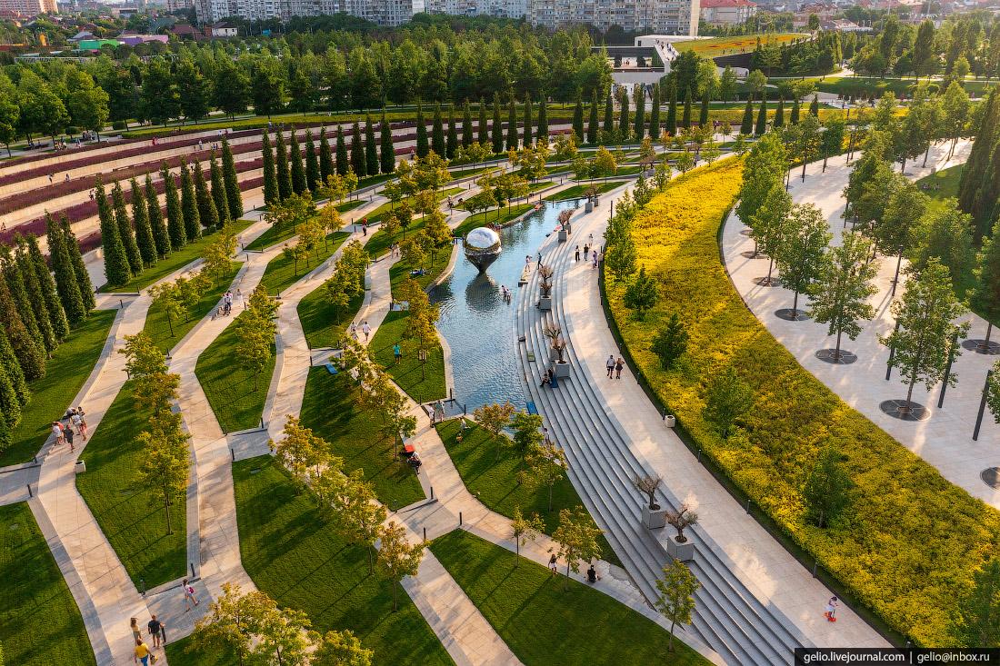 парк галицкого, парк краснодар, Геолокация