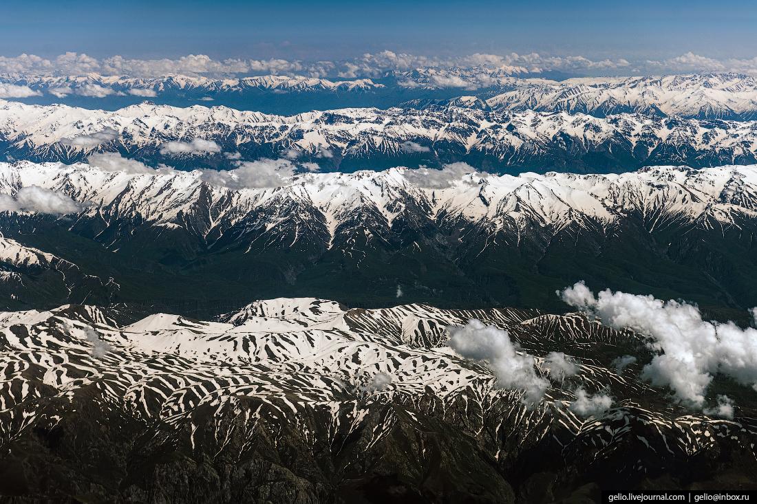 Фотографии из окна самолёта Узбекистан, Казахстан и Киргизия