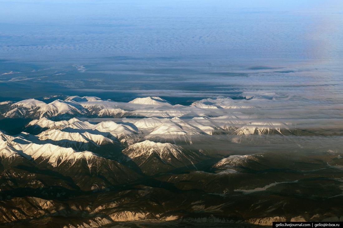 Фотографии из окна самолёта Горы Хакасии