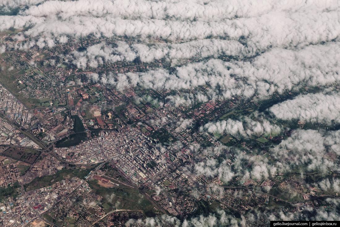 Фотографии из окна самолёта Хараре столица Зимбабве