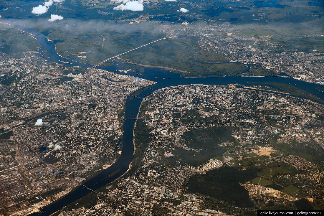 Фотографии из окна самолёта Нижний Новгород