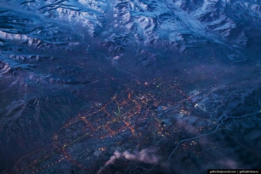Фотографии из окна самолёта Улан-Батор