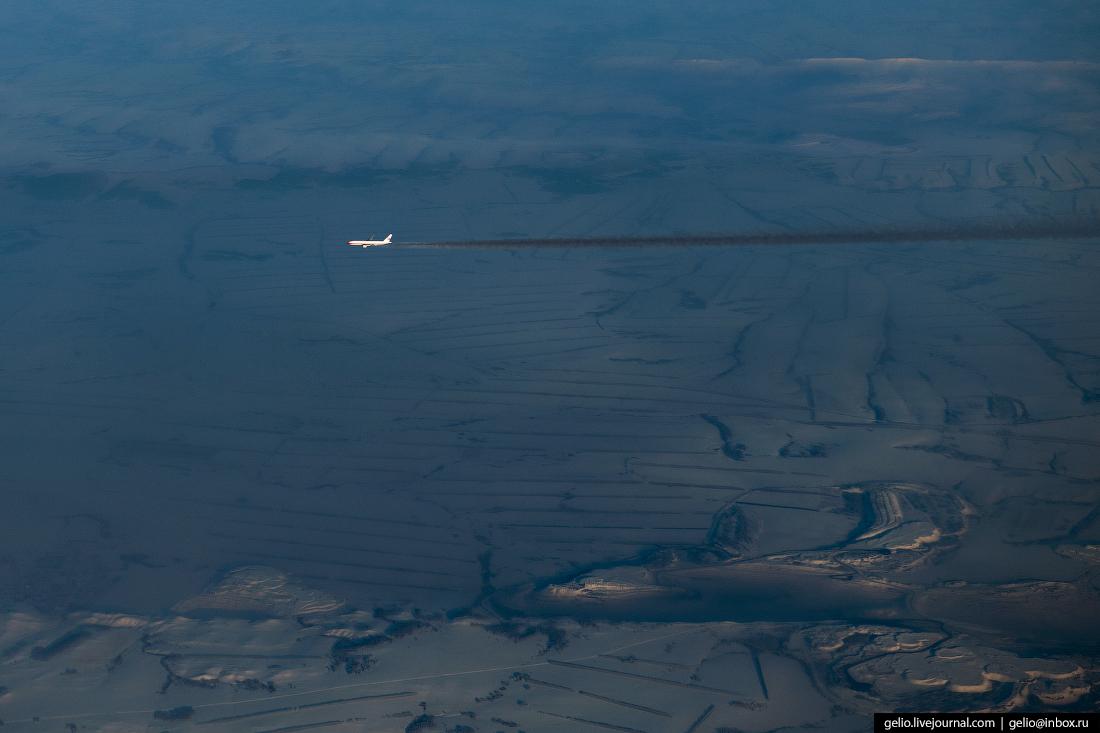 Фотографии из окна самолёта