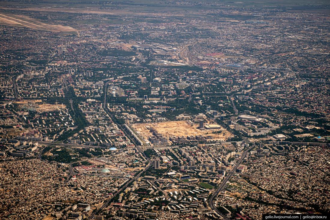 Фотографии из окна самолёта Ташкент