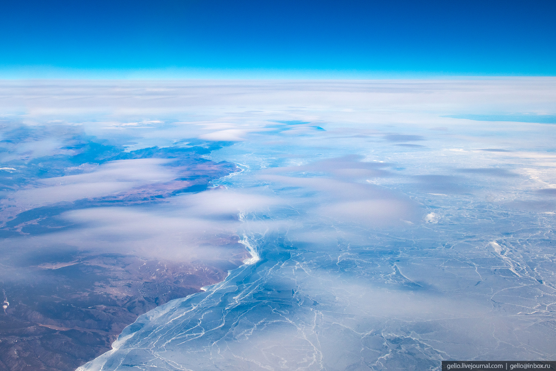 Фотографии из окна самолёта Байкал