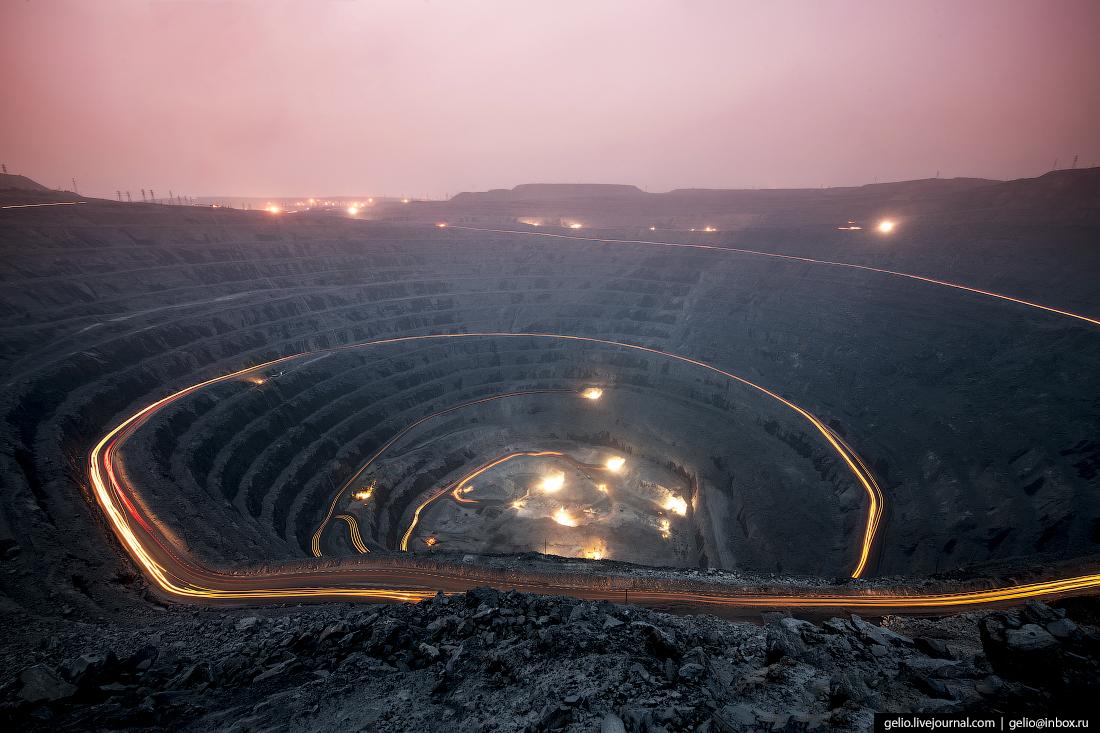 полюс добыча золота Карьер Восточный Олимпиадинского месторождения